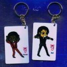 "Michael Jackson Anime Keychain ""THRILLER""  & ""BAD"" Themes"