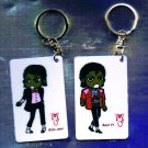 "Michael Jackson Anime Keychain ""Billie Jean""  & ""Beat It"""