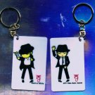 "Michael Jackson Anime Keychain ""Black Or White""  & ""MTV VMA's"""