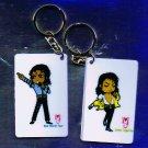 "Michael Jackson Anime Keychain ""Come Together""  & ""BAD World Tour"""