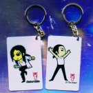 "Michael Jackson Anime Keychain ""Black Or White""  & ""In The Closet"""