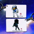 "Michael Jackson Anime Keychain ""MOTOWN 25""  & ""Smooth Criminal"""