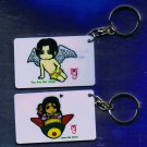 "Michael Jackson Anime Keychain ""Leave Me Alone""  & ""You Are Not Alone"""