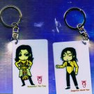 "Michael Jackson Anime Keychain ""Remeber The Time""  & ""DANGEROUS World Tour"""
