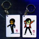 "Michael Jackson Anime Keychain ""JAM""  & ""The Way You Make Me Feel"""