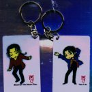 "Michael Jackson Anime Keychain ""This Is It"" & ""Blood On The Dancefloor"""