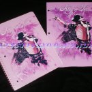 Michael Jackson (King of Pink) Notebook + 2 Pocket Portfolio