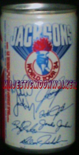 "Jackson's ""WORLD TOUR"", 1984 Pepsi Autograph Can (empty)"