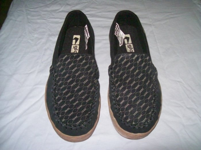 Globe Castro Black / G Louis Cord Loafers Slip-Ons - US Size 7 Men's