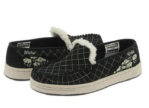 Globe Castro Black/Natural Skulls Loafer Slip-Ons - US Men's Size 13