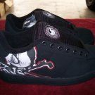 DVS Decay Black / White Nubuck Skateboard Shoes - Size 8