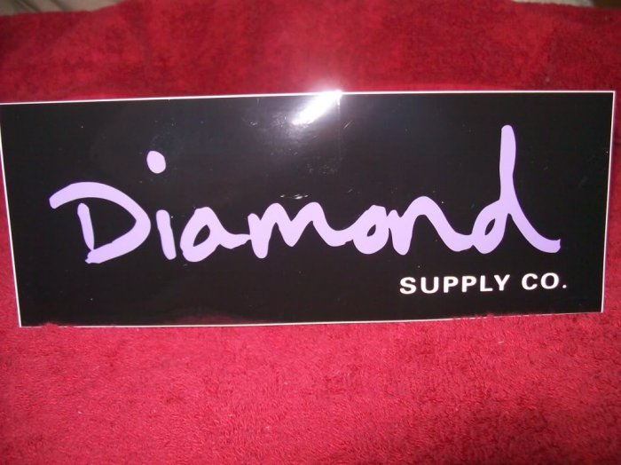 Diamond Skateboards Sticker - Black / Purple