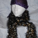 Black fun fur scarf