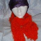 orange glitter scarf