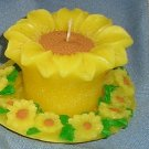 Sunflower & Plate Candle, Candles