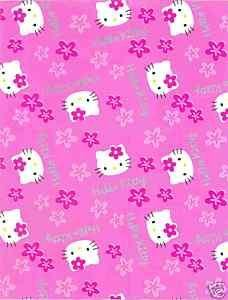 Hello Kitty Cat Wrapping Paper Pink Loveable Gift Wrap