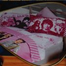 DISNEY CAMP ROCK FULL SHEET SET DEEP POCKETS PINK SHANE