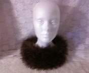 brown, fizz fur neck warmer, adult size, LOOM KNITTED