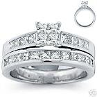 VICTORIA CROWN ENGAGEMENT RING SET 14K CERTIFIED