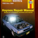 1982 - 1994 Nissan Sentra Haynes Auto Repair Manual