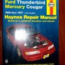1989 - 1997 Ford Thunderbird Mercury Cougar Haynes Auto Repair Manual