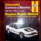 1987 - 1996 Chevrolet Corsica & Beretta Haynes Auto Repair Manual