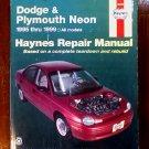 1995 - 1999 Dodge Plymouth Neon Haynes Auto Repair Manual