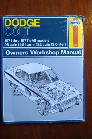1971 - 1977 Dodge Colt Sedan Hardtop Coupe & Wagon Haynes Auto Repair Manual