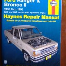 1983 - 1992 Ford Ranger & Bronco II Haynes Auto Repair Manual