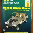 1949 - 1986 Jeep CJ models Scrambler Renegade Laredo & Golden Eagle Haynes Repair Manual