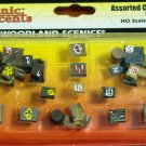 Scenic Accents Woodland Scenics Assorted Crates 12 pcs. HO Scale A1855