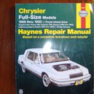 Chrysler New Yorker, Dodge Dynasty, Imperial, Fifth Ave, LeBaron Landau & Sedan Haynes Manual