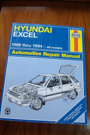 1986 - 1994 Hyundai Excel Haynes Repair Manual