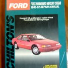 1983 - 1992 Ford Thunderbird & Mercury Cougar Chilton's Repair Manual