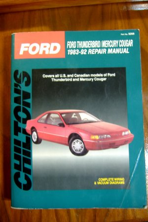 1983 - 1992 Ford Thunderbird & Mercury Cougar Chilton's Repair Manual