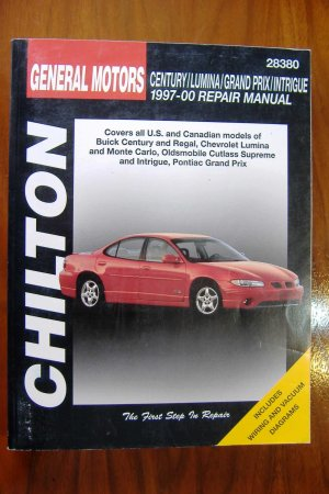 97-00 Buick Century Regal Chevy Lumina Monte Carlo Olds Cutlass Supreme Intrigue Pontiac Grand Prix