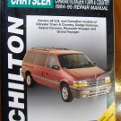 84-95 Chrysler Town & Country Dodge Caravan Plymouth Voyager Grand Voyager Chiltons Manual