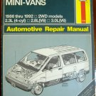 1986-1992 Ford Aerostar Mini-Vans Haynes Manual