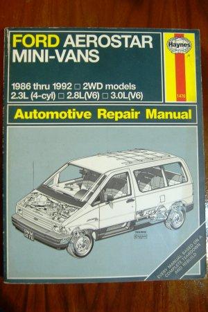 1986-1992 Ford Aerostar Mini-Vans Haynes Manual