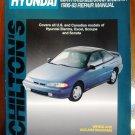 86-93 Hyundai Elantra Excel Scoupe Sonata Chiltons Manual