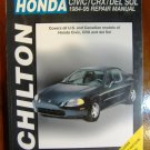 1984-1995 Honda Civic CRX Del Sol Chiltons Repair Manual