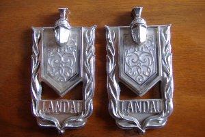 74 75 Monte Carlo Landau Roof Pillar Emblems