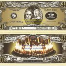 40th BIRTHDAY OVER THE HILL DOLLAR BILLS x 4 GIFT NEW