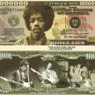 JIMI HENDRIX ROCK N ROLL GUITARIST DOLLAR BILLS x 4 NEW