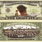 GRADUATE MILLION GRADUATION DOLLAR BILLS x 4 GIFT NEW