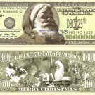 SANTA CLAUS NORTH POLE MERRY CHRISTMAS DOLLAR BILLS x 4