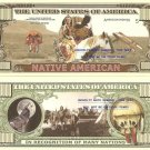 NATIVE AMERICAN INDIAN CHIEF MILLION DOLLAR BILLS x 4