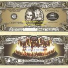 30th BIRTHDAY OVER THE HILL DOLLAR BILLS x 4 GIFT NEW