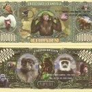MONKEY GORILLA APES MILLION PRIMATES DOLLAR BILLS x 4