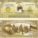 CALIFORNIA GOLD RUSH 1848 MILLION DOLLAR BILLS x 4 NEW
